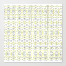 Yellow Batik Canvas Print
