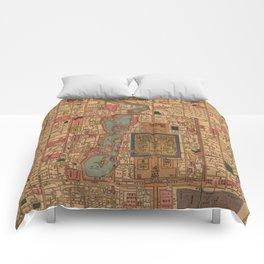 Vintage Map of Beijing China (1914) Comforters