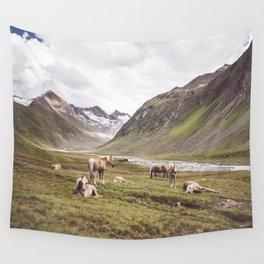 Tyrolean Haflinger horses I Wall Tapestry