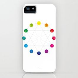 Simple Color Wheel iPhone Case
