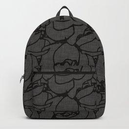 Rose pattern black and grey Backpack