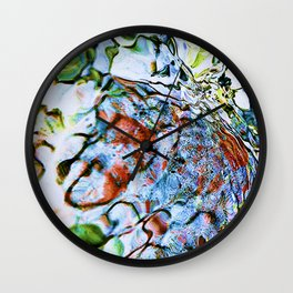 abstract stone and running water 1 Wall Clock
