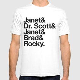 Janet! Dr. Scott! Janet! Brad! Rocky! T-shirt
