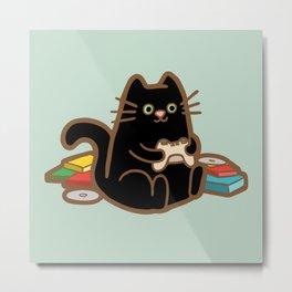 Gamer Cat Metal Print