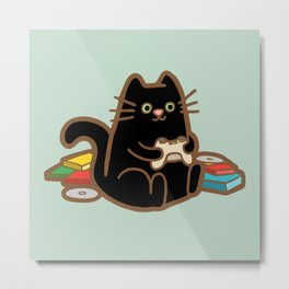 Gamer Cat Metal Print
