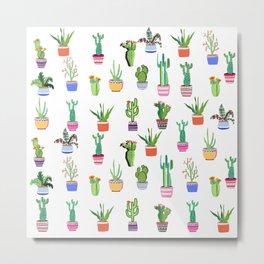 Cacti Land Metal Print
