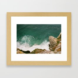 Cliff Lookout Framed Art Print