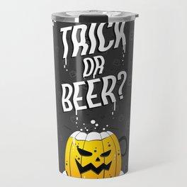 Trick or Beer? Halloween Candy Bag Travel Mug