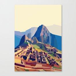 Geometric Machu Picchu, Peru Canvas Print