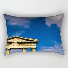 """Gate of """"Archegetis Athena"""" in ancient site of Roman Forum in Athens, Greece Rectangular Pillow"""
