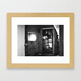 Fallout shelter boiler room Framed Art Print