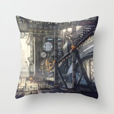 Industrial District Throw Pillow