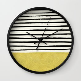 Gold x Stripes Wall Clock