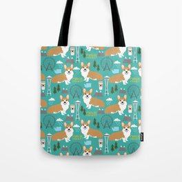 Corgi seattle washington welsh corgi pattern print dog lover gifts space needle ferris wheel coffee Tote Bag
