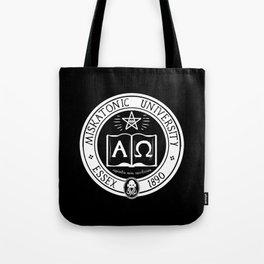 Miskatonic University in Black Tote Bag