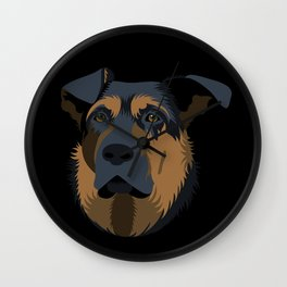 Ruby (German Shepard) Wall Clock