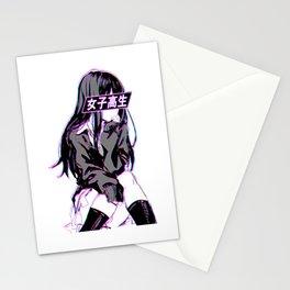 Anime Schoolgirl Stationery Cards