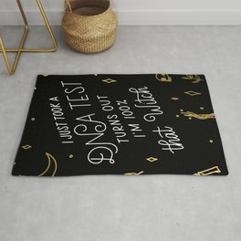 Truth Hurts Witch - Black and Gold Rug
