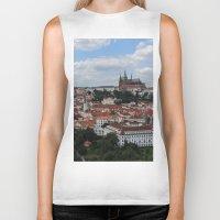 prague Biker Tanks featuring Prague CityScape by Andrew Schmidt