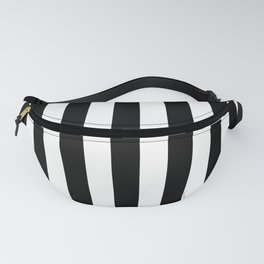 Solid Black and White Wide Vertical Cabana Tent Stripe Fanny Pack