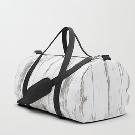 White Wood Duffle Bag