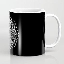 Taoist Mandala - White on Black Coffee Mug