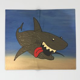 Shark Week Throw Blanket