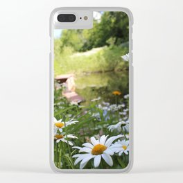 Daisy Pond Clear iPhone Case