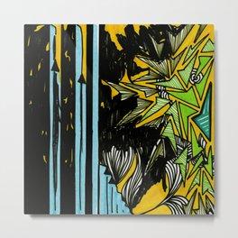 Album Art LP 8 Yellow Metal Print