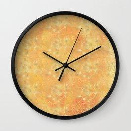 Golden Trellis Wall Clock