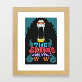 Brook world tour poster Framed Art Print