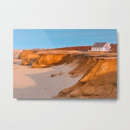 Thunder Cove Beach Cliffs - Golden Pastel Hour Metal Print