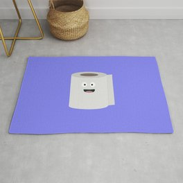 Toilet paper with face Rug