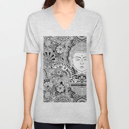 Buddha Power Unisex V-Neck