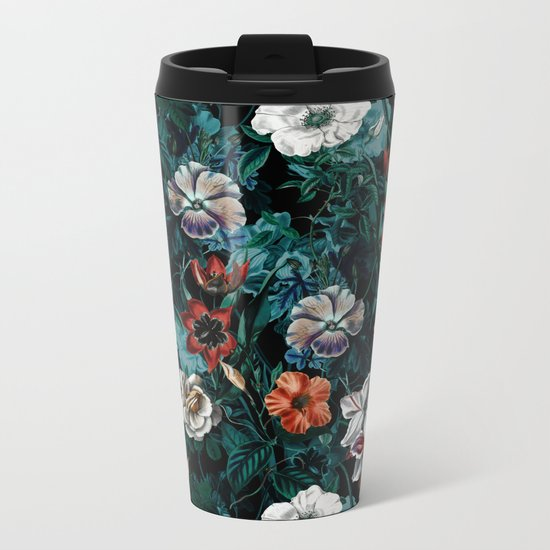 NIGHT FOREST XXI Metal Travel Mug