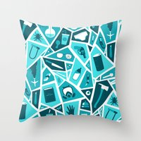 breaking Throw Pillows featuring Breaking Bad by Felix Rousseau