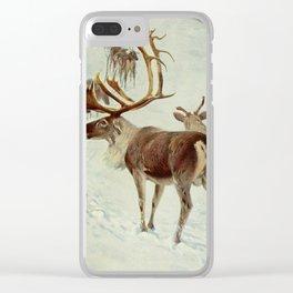 Kuhnert, Friedrich Wilhelm (1865-1926) - Wild Life of the World 1916 v.1 (Skandinavian Reindeer Clear iPhone Case