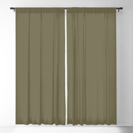 Solid Color Pantone Martini Olive 18-0625 Green Blackout Curtain