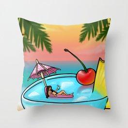 blue hawaii Throw Pillow