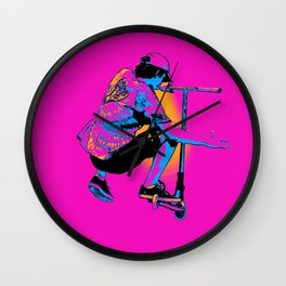 Flying Scooter Pro - Stunt Scooter Boy Wall Clock