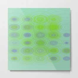 Lime blue purple circles Metal Print