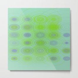 Lime blue purple circles Metal Print