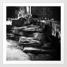 Beyond the walls of illusion Art Print