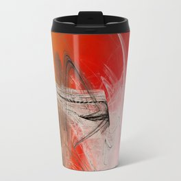 Mercury In Aries Cardinal Fire - #Abstract #Art #Illustration by Menega Sabidussi #society6 Travel Mug