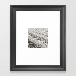 Chairs a la Hamburgian Summer Framed Art Print