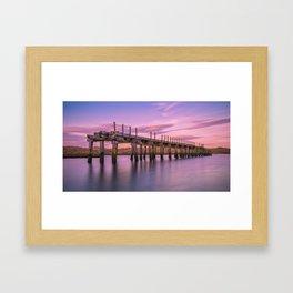 The Old Bridge at Sunset Framed Art Print