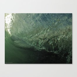 Inside The Wave Canvas Print