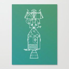 Real Spaceship Canvas Print