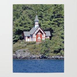 St Isaac Jogues Chapel, Hecker Island (Lake George, NY) Poster