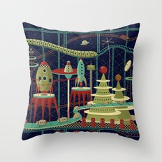 Fantastic Launch Station Throw Pillow